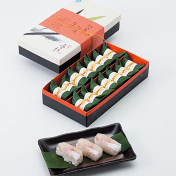 写真:紀州あせ葉寿司(鯛)