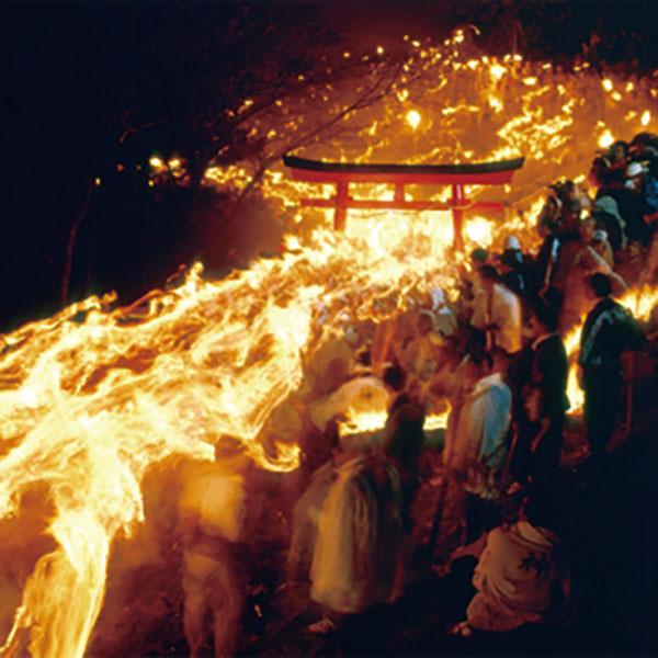 写真:御燈祭り