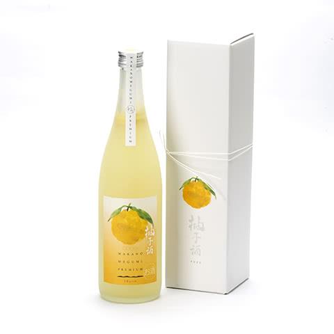 写真:和歌のめぐみ プレミアム 柚子酒