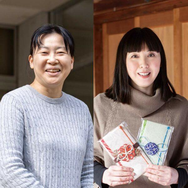 写真:亀位千鶴子さん(Koubou2466/写真右)<br /> 飯野尚子さん(紙漉き人/写真左)